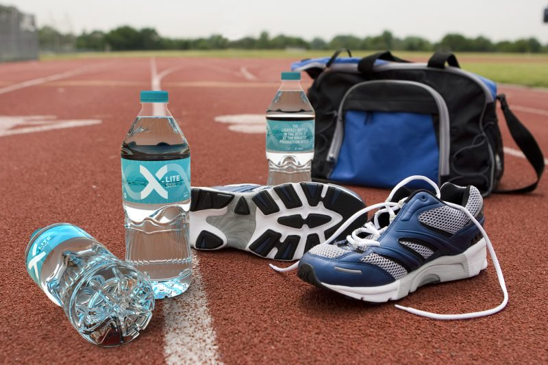 Running Shoes & Bag on Track II