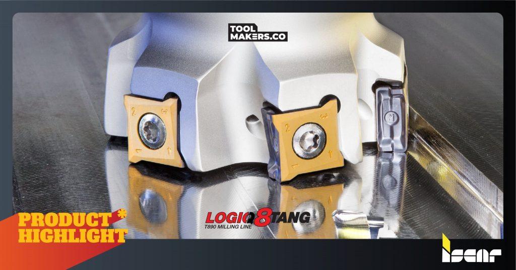 LOGIQ8TANG | เม็ดมีด 8 คมกัดแบบจับยึดในแนวตั้งจาก ISCAR