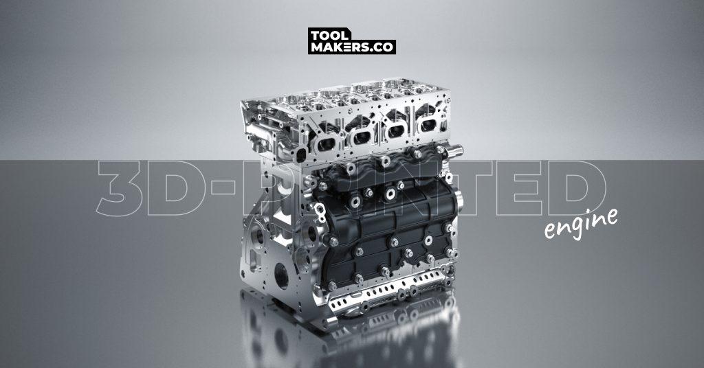 เครื่องยนต์  3D-printed น้ำหนักเบากว่าเดิม 21%