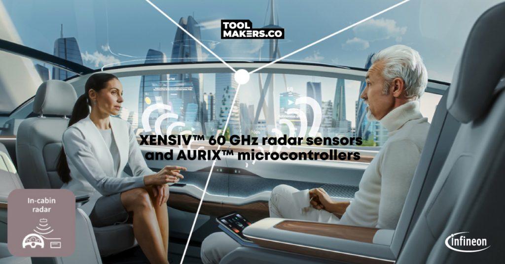 เซนเซอร์เรดาร์  และไมโครคอนโทรลเลอร์สำหรับอุตสาหกรรมยานยนต์ในการตรวจจับการเคลื่อนไหว