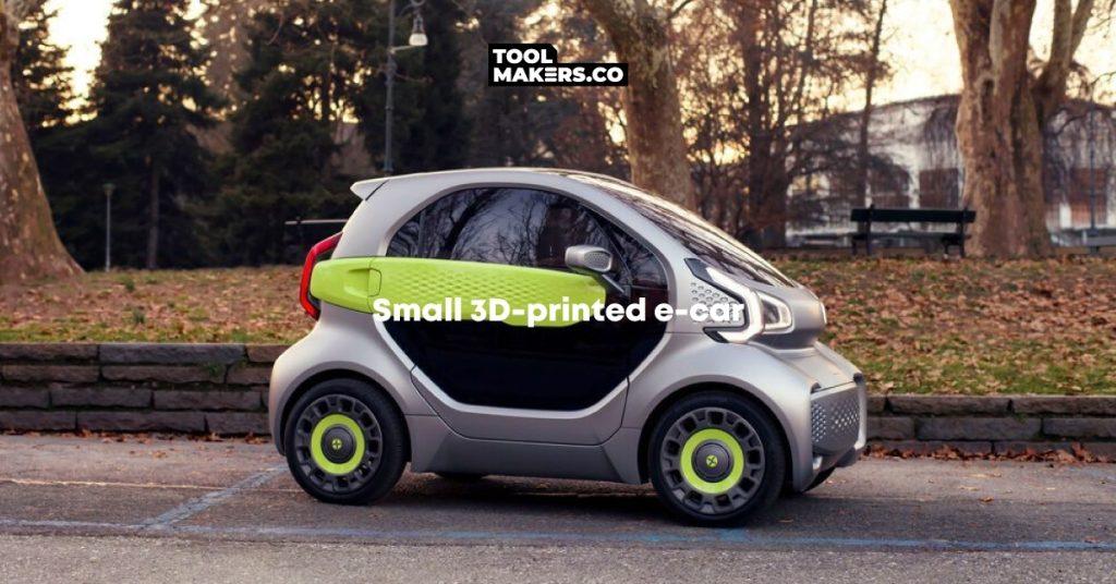 รถยนต์ไฟฟ้าขนาดเล็ก ผลิตด้วยการพิมพ์ 3 มิติ พร้อมจำหน่ายแล้ว